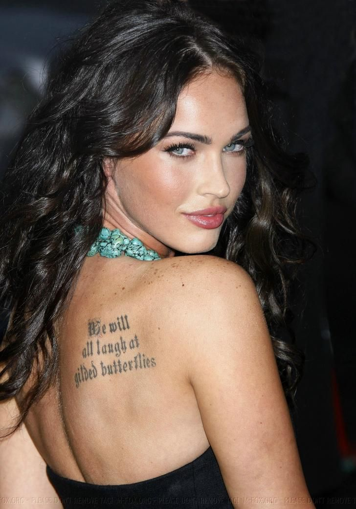 Imgur The Magic Of The Internet Megan Fox Tattoo Megan Fox Photos Celebrity Tattoos Women