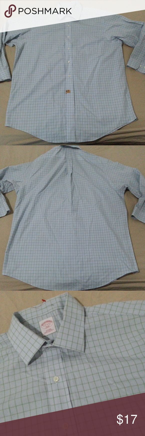 Wooden crib for sale in cebu - Mens Brooks Brothers Dress Shirt 17 32 33 Blue Cot