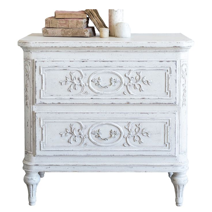 The 69 best white shabby chic images on pinterest white french fleur bronte nightstand vintage french watchthetrailerfo
