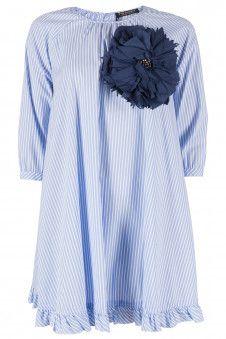Twin-set Wit/blauw gestreepte jurk Divers