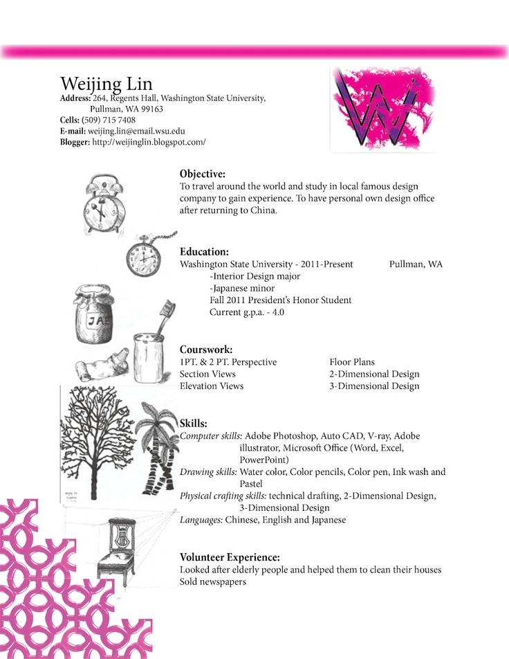 interior design resume - Examples Of Interior Design Resumes