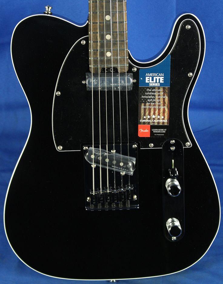 Fender USA American Elite Telecaster Tele Electric Guitar Mystic Black w/ Ebony Fingerboard