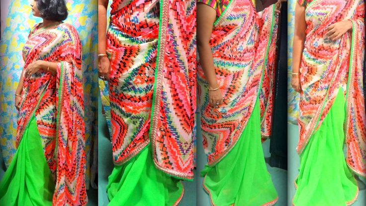 Multi colour combination with parrot green..... perfect for sunday summer afternoon flavor.