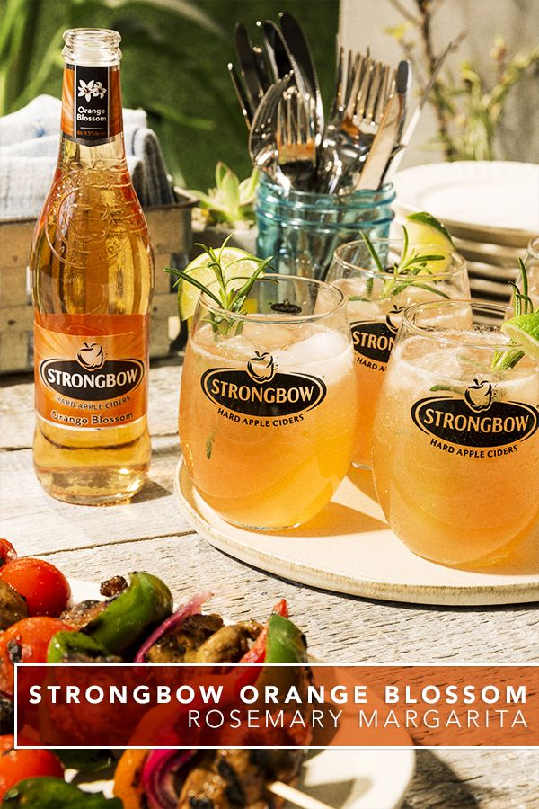 Get a taste of this fun & fresh margarita using Strongbow Orange Blossom Hard Cider. This flavorful drink recipe is an easy way to cool down during a BBQ, picnic or warm summer days spent outdoors.