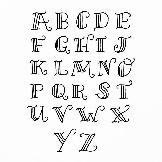 25+ best ideas about Hand Lettering Alphabet on Pinterest : Handwriting fonts, Bullet font and ...