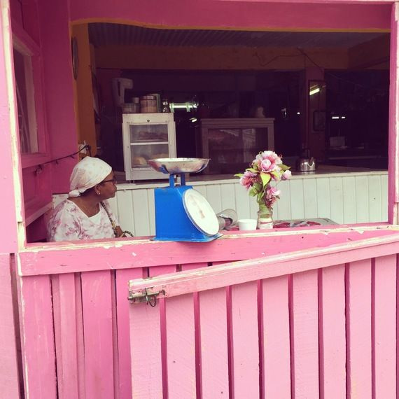 Pink Bakery on Union Island. Taken on my sailing trip in the Grenadines. More info on my Huff Po article: http://www.huffingtonpost.com/chandi-wyant/see-the-grenadines-by-sai_b_9542796.html?utm_hp_ref=travel&ir=Travel
