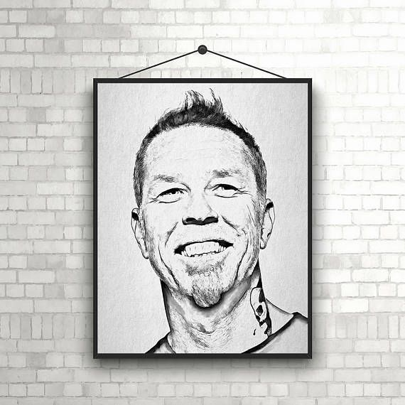 James Hetfield Poster Metallica Art James Hetfield Print