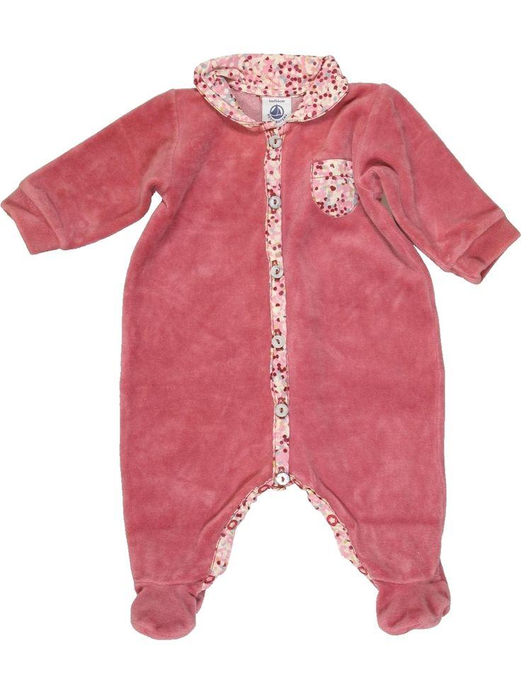 Pyjama 1 pièce Fille PETIT BATEAU 1 mois pas cher, 10.89 €