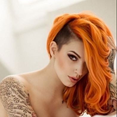 Light orange hair dye shade on dark hair | Hair Dye ...