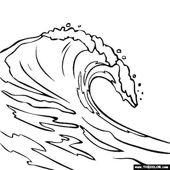 free ocean waves coloring pages - photo#6