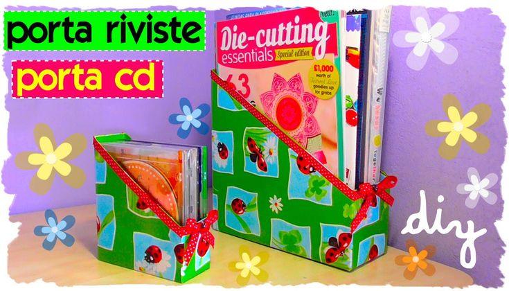 Tutorial: Come realizzare un porta cd e un porta riviste | Riciclo Creat...