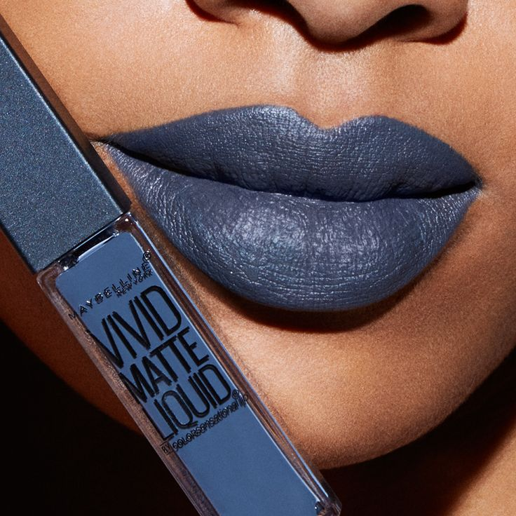 The perfect dark grey lipstick.  Maybelline Vivid Matte Liquid Lipstick in 'Sinful Stone' is the perfect cool-toned grey lipstick for days where you want your lips to really pack a punch.