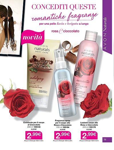 alla scoperta di AVON : ROSA E CIOCCOLATO romantiche fragranze ESFOLIANTE ...