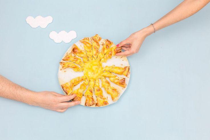 Et oui comme vous pouvez le constater, j'ai cédé à la tentation et j'ai fait une belle tarte soleil saumon aneth et fromage frais!