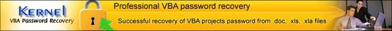 Kernel for VBA Password Recovery - Animated Demo - view Animated demo for VBA password recovery software.