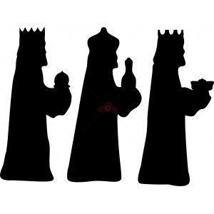 Three Wise Men Silhouette Printable Clipart