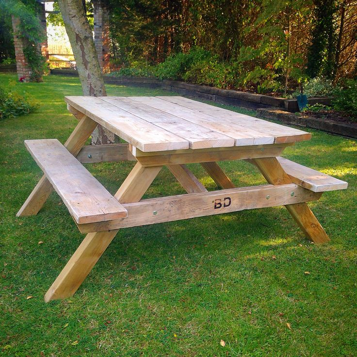 New #scaffold #picnic #table Ready For Staining #upcycle