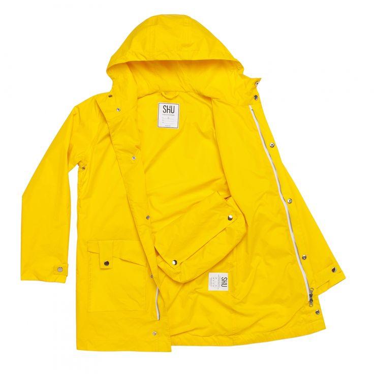 Желтый плащ-дождевик SH'U 2016