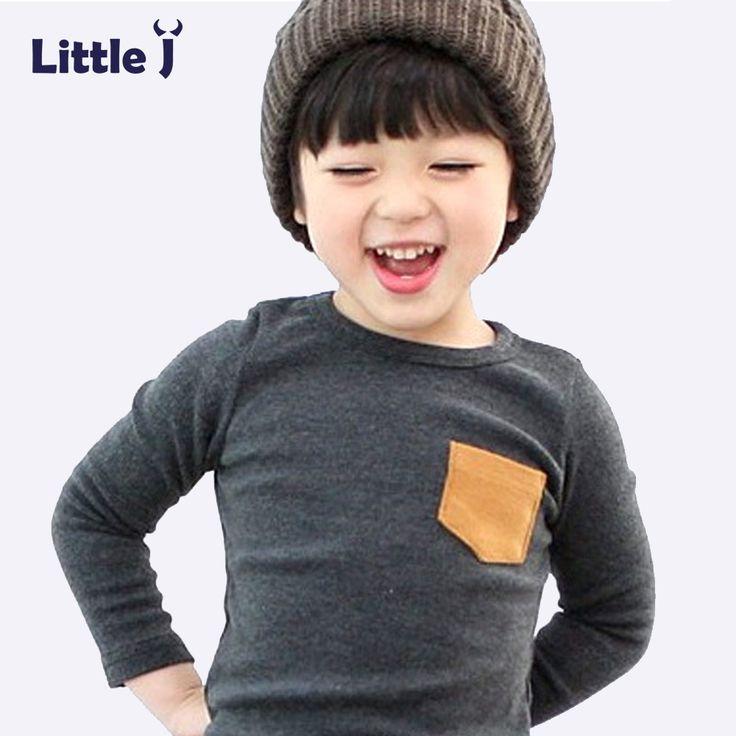 Lembut Anak-anak Laki-laki T-shirt Permen Warna Solid Lengan Panjang bayi Perempuan T-shirt Katun anak T-Shirt O-Neck Tee Tops Boy pakaian
