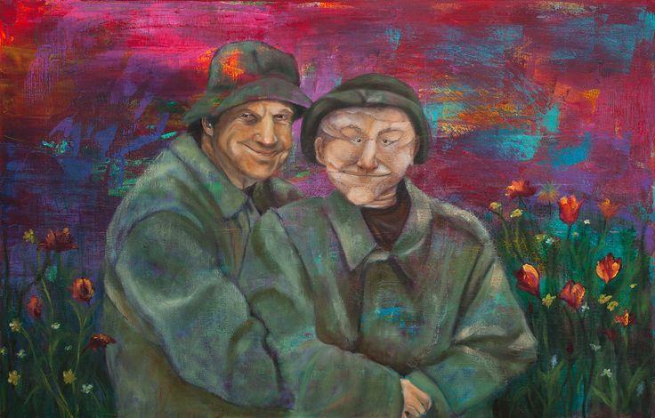Schilderijen, kleurrijk, Toon en Pop, Olieverf en Acryl, Circus, Kunst, Conny Verschuuren, www.ateliermetverve.nl