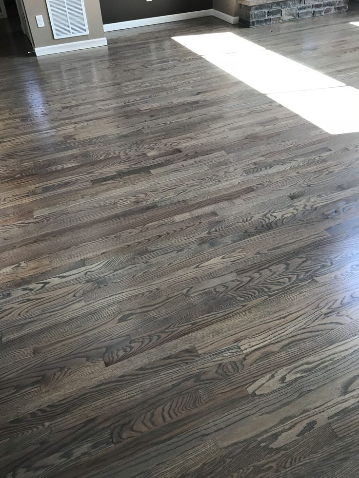 Red Oak Floors Stained With Classic Gray Hardwood Floors