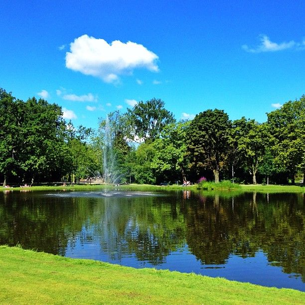 #Vondelpark in #Amsterdam, Noord-Holland - Big and beautiful park to lounge or ride your bike through. There is a looping trail to ride bikes on and is one of my absolute favourite activities in Amsterdam. Also, accomodations in this area are recommended as it's close to everything! - Danielle