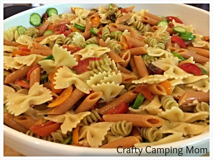 Summer pasta salad lighter and picnics on pinterest for Picnic food ideas for large groups