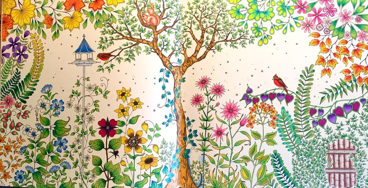 Johanna Basford Secret Garden #1 Joyful Design #joyfulcoloring
