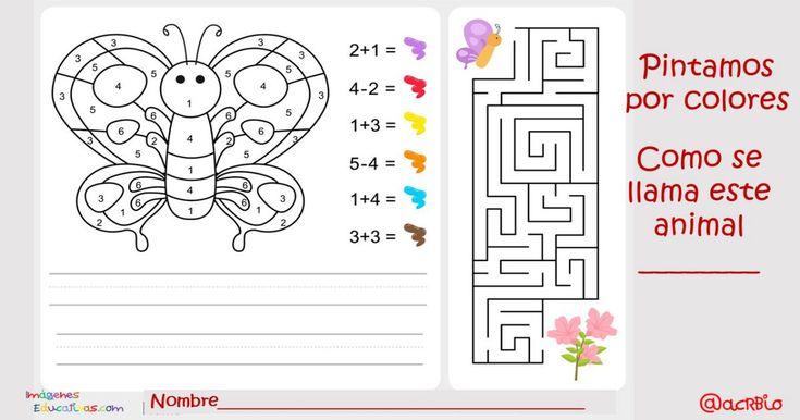 Pintamos por colores y números. Actividades matemáticas para colorear y aprender