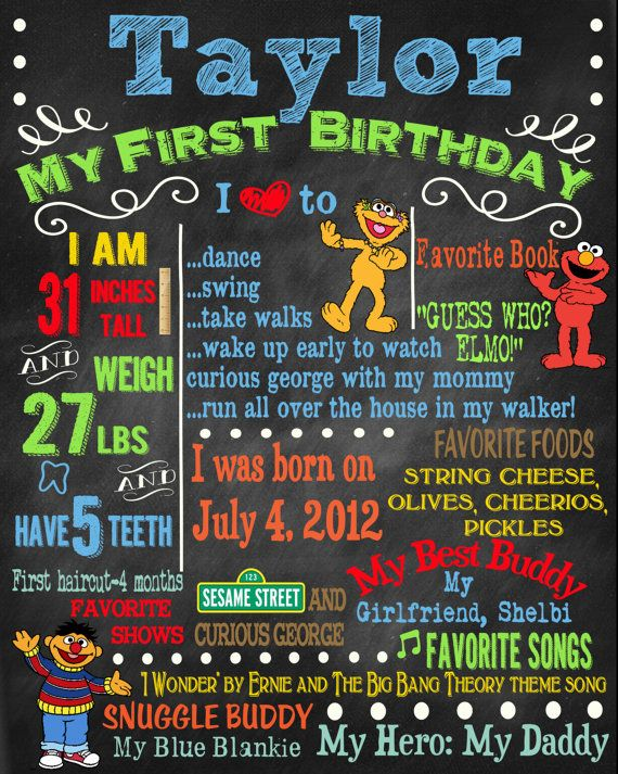 Birthday Invitation Sesame Street Theme by sweetharvestonline