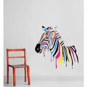 candy zebra wall decal