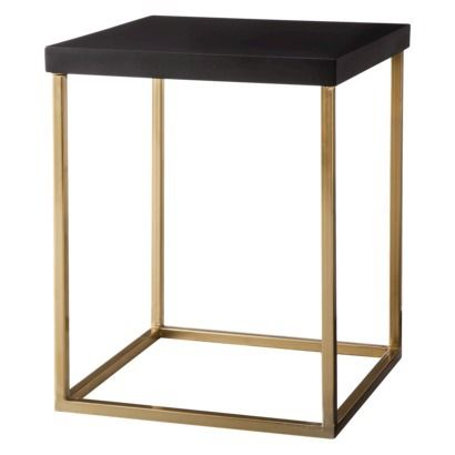 Threshold™ Square Accent Table   Black And Gold