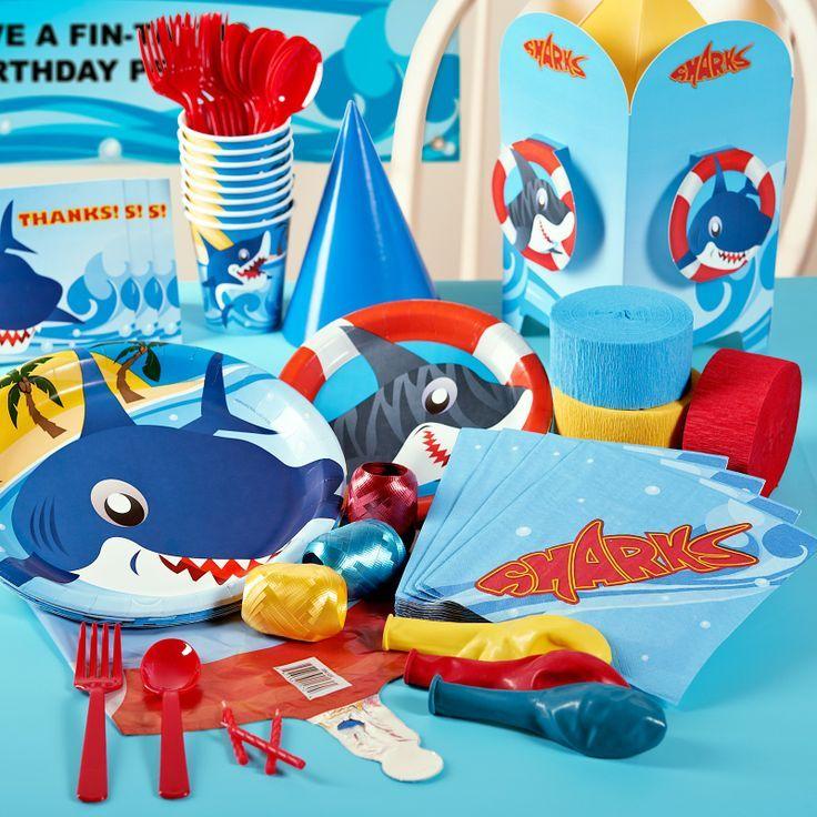 Shark party supplies from sharkweek