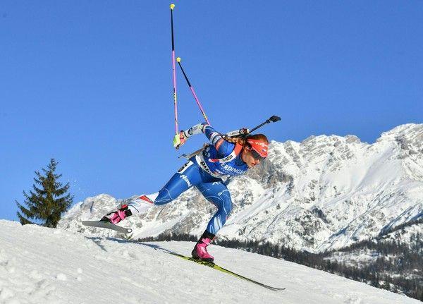 Czech Republic's Gabriela Koukalova competes during the 2017 IBU World Championships Biathlon  Women's  7,5 km Sprint race  in Hochfilzen, on 10 February, 2017. / AFP / APA / BARBARA GINDL / Austria OUT
