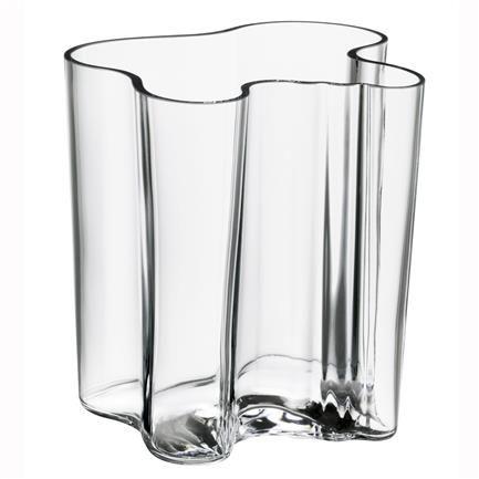 Aalto vase, klar, Alvar Aalto, iittala