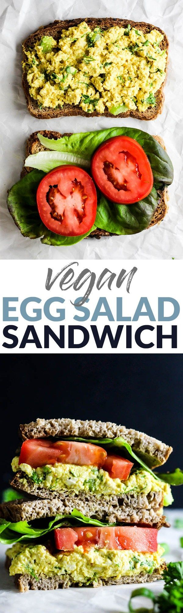 Pack a Vegan Egg Salad Sandwich for your lunch for a flavorful, simple meal! This plant-based version of the classic is even more delicious & nutritious. @soyfoods #soyfoodsmonth #tastysoyfoods #ad