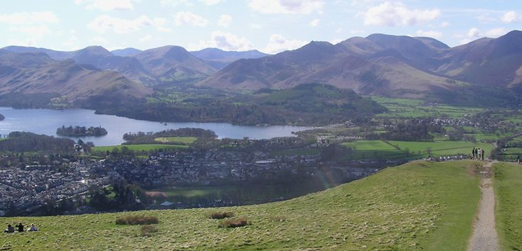 View of Derwentwater and the Borrowdale valley on miles without stiles route 38