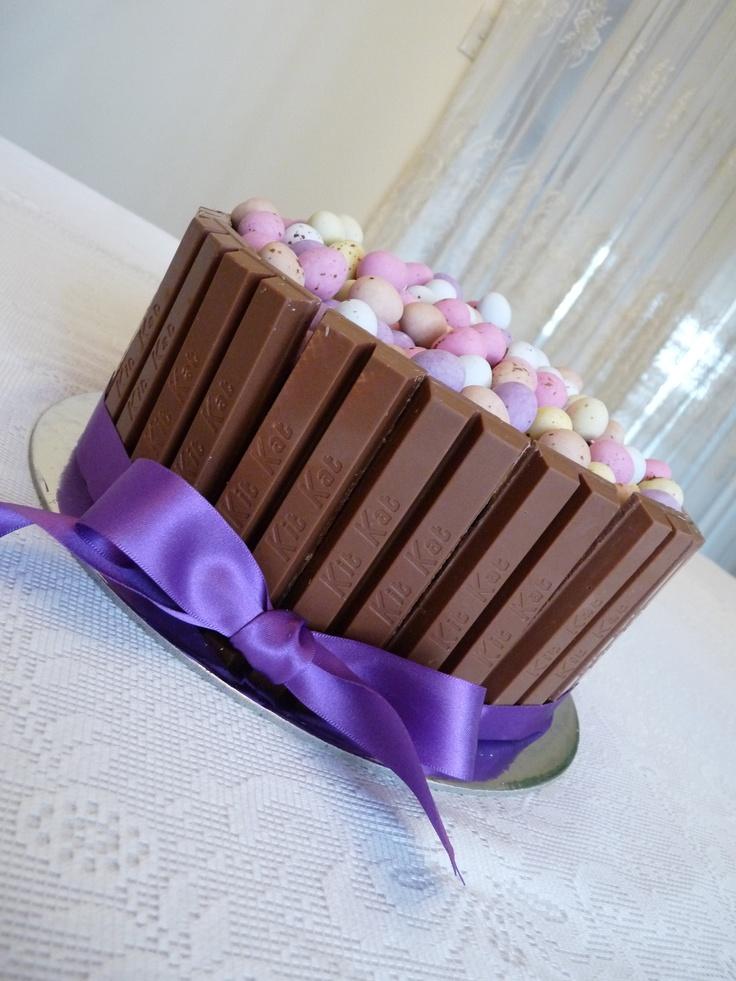 my Easter cake!  #Easter #cake #kitkat