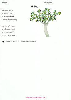 Ελένη Μαμανού: Φύλλα Εργασίας για την Ελιά