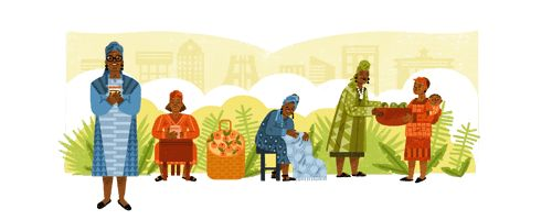 Esther Afua Ocloo's 98th Birthday | Google Doodle 04/18/2016