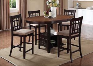 Lavon Espresso Counter Height Table w/ 4 Stools, /category/dining-room/lavon-espresso-counter-height-table-w-4-stools-2.html