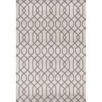 Modern Trellis Pattern Cream (Ivory) 7 ft. 6 in. x 9 ft. 5 in. Area Rug
