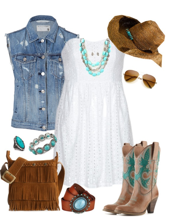 """Calgary Stampede Fashion"" by trinavokes on Polyvore @jmgtursi @unsinkablembe look at me pinteresting. :)"