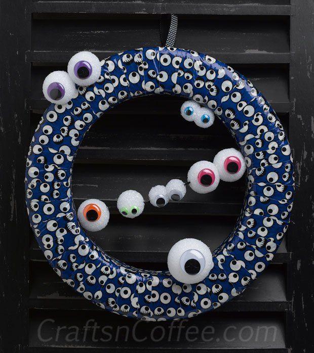Glow in the dark Duck Tape eyeball wreath!