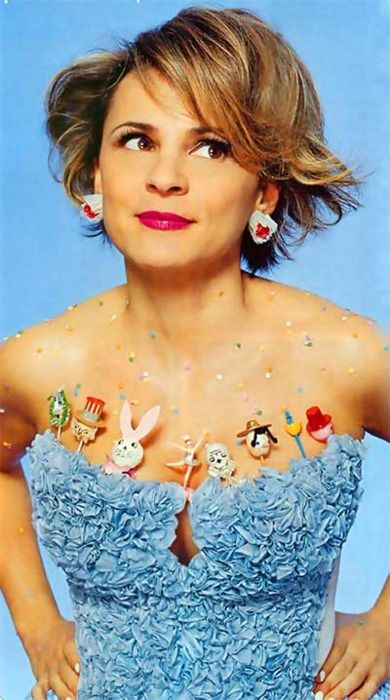 Amy Sedaris. Funny gal, sublime hostess, craft maven, and all-around smartypants. I wanna be like her!