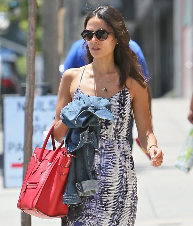 Jordana Brewster exiting a Brazilian Blow Dry Bar on Sunset Boulevard, Los Angeles, on June 14, 2013