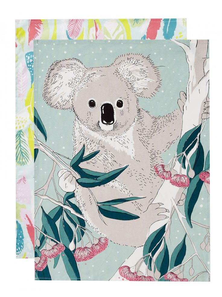 Koala Cotton Tea Towel Set