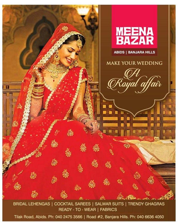 Meena Bazar Make Your Wedding A Royal Affair Ad Fashion Sale