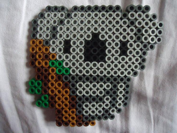 Perler bead Koala by *PerlerHime on deviantART