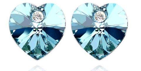 Kolczyki kryształowe serca